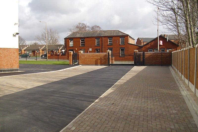 Brook House Flats, Wigan, External Works