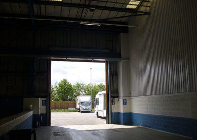 jjh one depot wigan roller shutter after